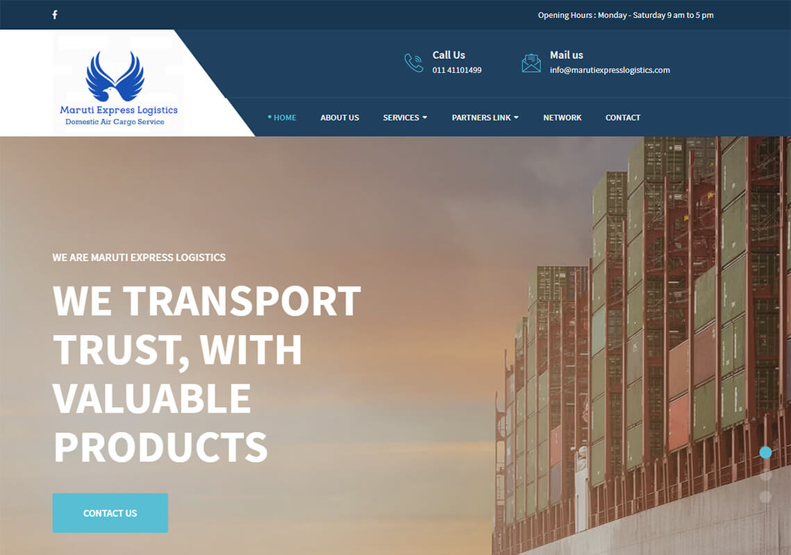 Maruti Express Logistics Website Design Project